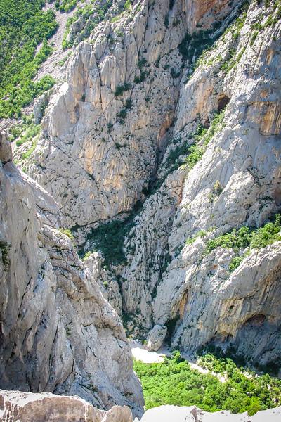 Looking down on valley below, Paklenica
