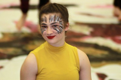 2018-04-05 Winterguard Pre-show at RHS (Kim Holm)