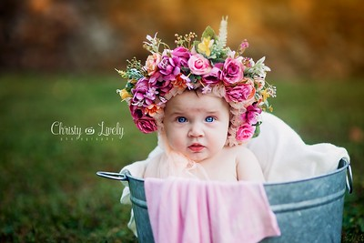 Floral bonnet お花ボンネット・帽子