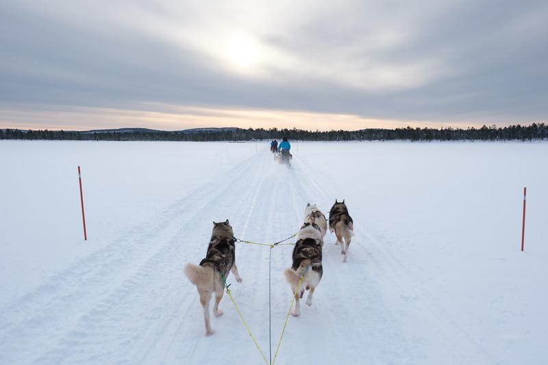 Crossing Lake Inari