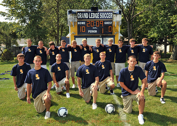 Varsity Soccer - Grand Ledge team photo