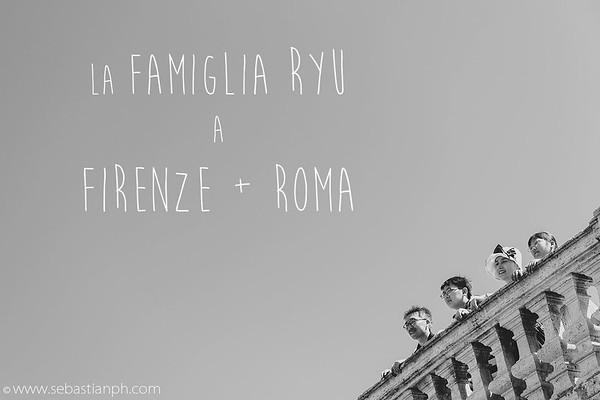 Doppio servizio fotografico di una Famiglia a Firenze e Roma