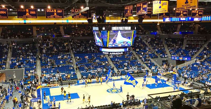 The night before I headed to Wisconsin Carol and I took in a UCLA basketball game. We're season ticket holders.