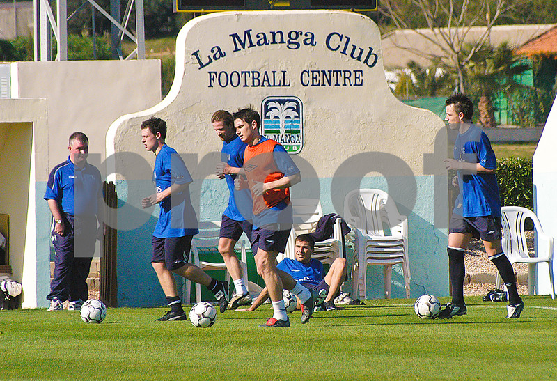 Frank Lampard and John Terry with Chelsea Football Club training at La Manga Club, 26th February 2004