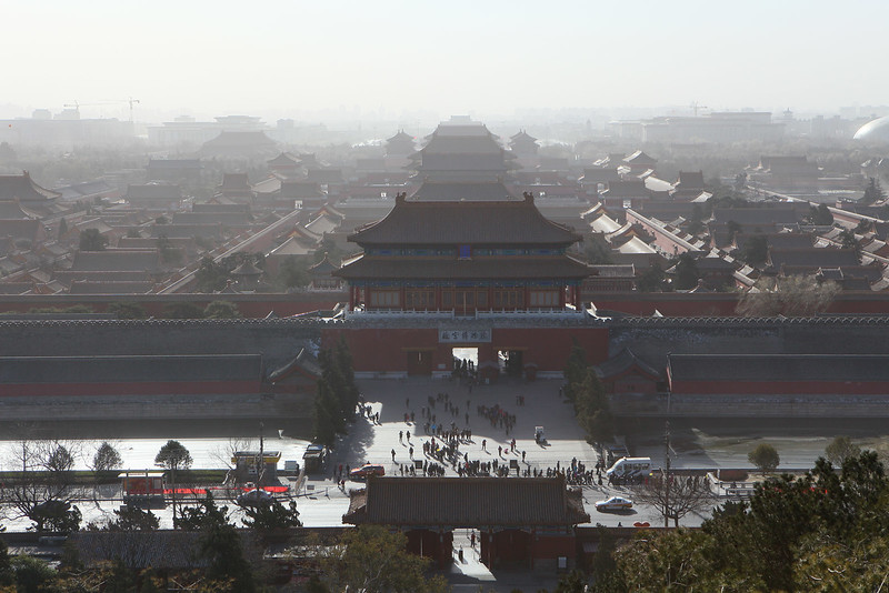 View of the Forbidden City from top of the man-made-hill.jpg