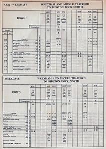 Wrexham to Bidston Freight Conditional DOWN WTT 1980