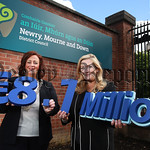 Pictured announcing ?8.1 million worth of EU INTERREG VA funding for the cross-border environmental CANN project are (left) Councillor Gillian Fitzpatrick, Chairperson for Newry, Mourne an ...