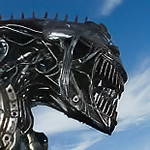 Alien metal sculpture. Gem & Mineral Show, Tucson, Arizona USA