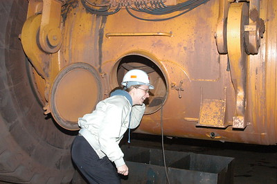 Janelle at the Empire Iron Mine