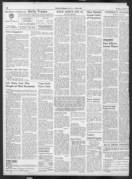 Daily Trojan, Vol. 32, No. 123, April 17, 1941