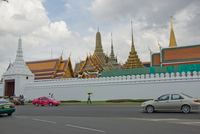 Outside Royal Palace Complex in Bangkok, Thailand