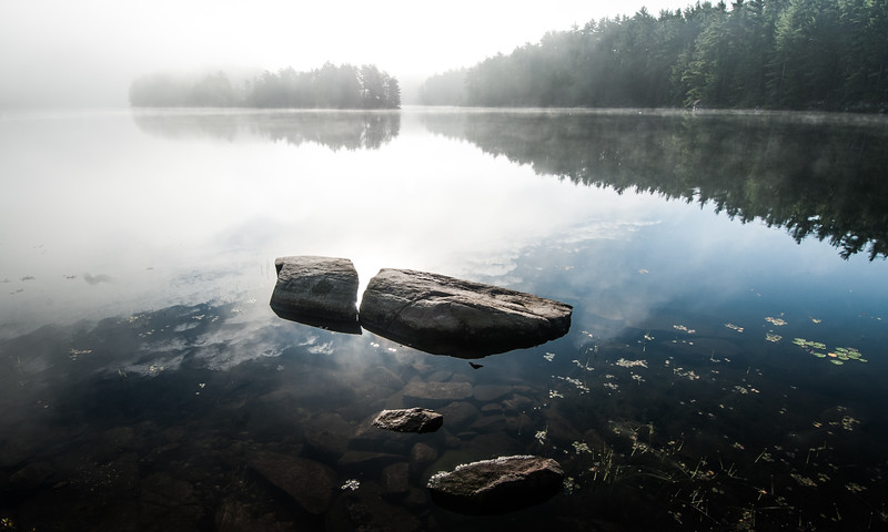 Reflections, Smoky Lake, Noganosh Lake Provincial Park