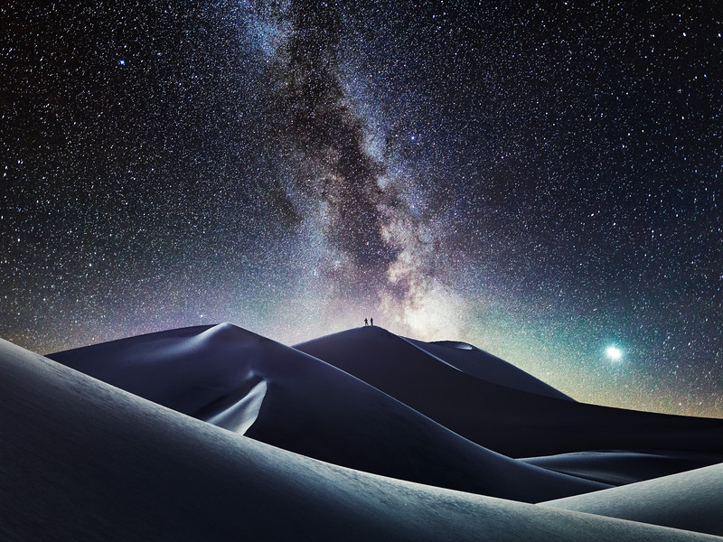 Milky Way Mesquite sanddunes death valley national park night photography galaxy stars.jpg