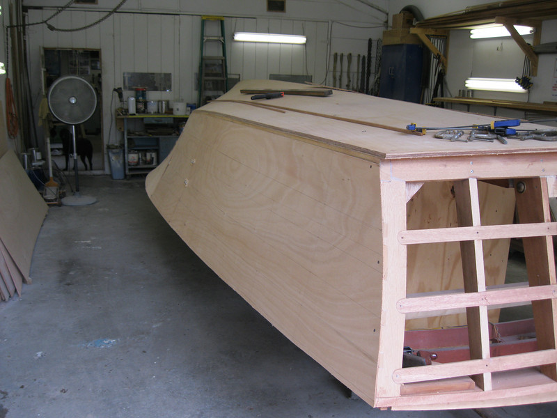 Rear starboard view of the plywood fit.
