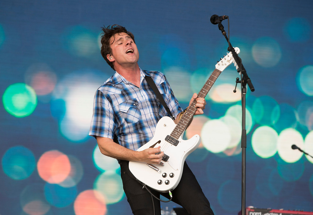 . Jim Adkins of the band Jimmy Eat World performs on Day 2 of the 2018 Firefly Music Festival at The Woodlands on Friday, June 15, 2018, in Dover, Del. Jimmy Eat World will perform July 15 at House of Blues Cleveland. For more information, visit houseofblues.com/cleveland. (Photo by Owen Sweeney/Invision/AP)