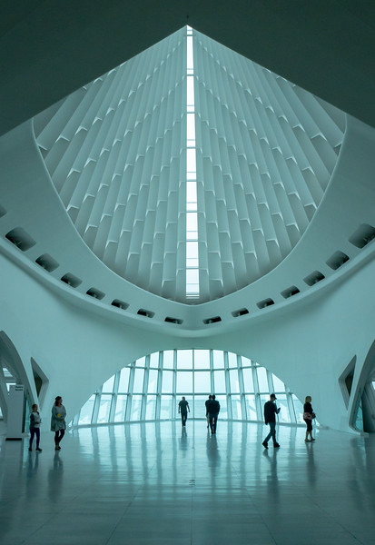 Concourse, Milwaukee Art Museum, on A Cloudy Day