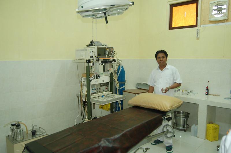 de operatiekamer met intrumentarium uit Nederland