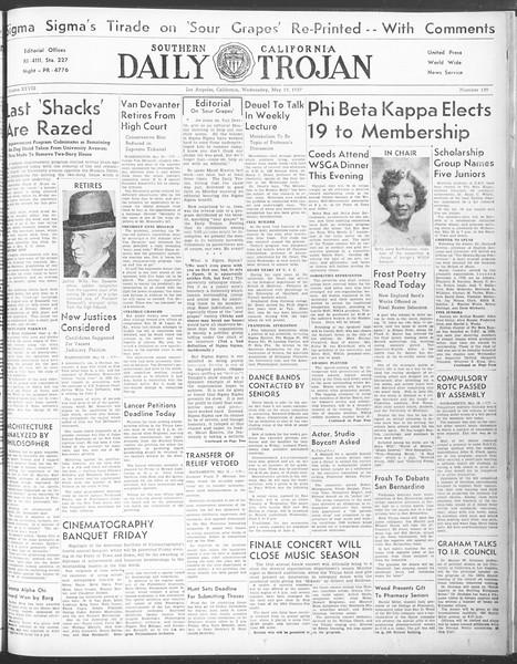 Daily Trojan, Vol. 28, No. 139, May 19, 1937