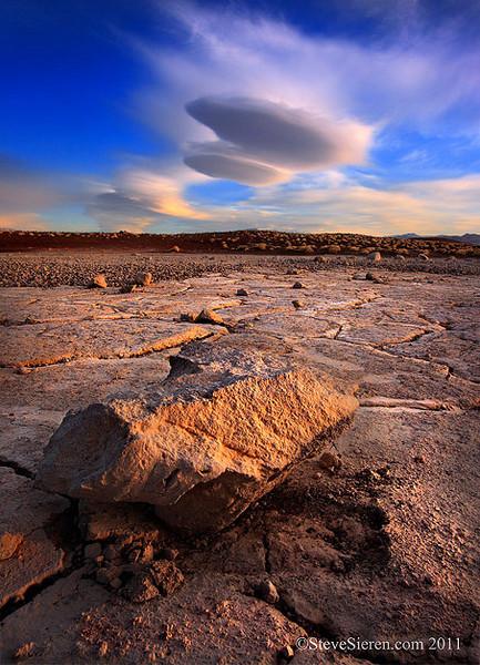 Volcanic Playa and Lenticulars Mojave Desert