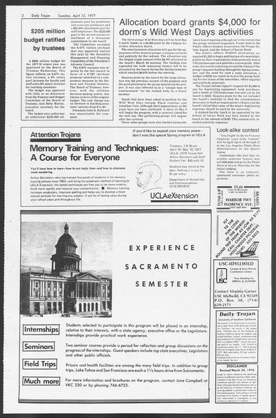 Daily Trojan, Vol. 71, No. 37, April 12, 1977