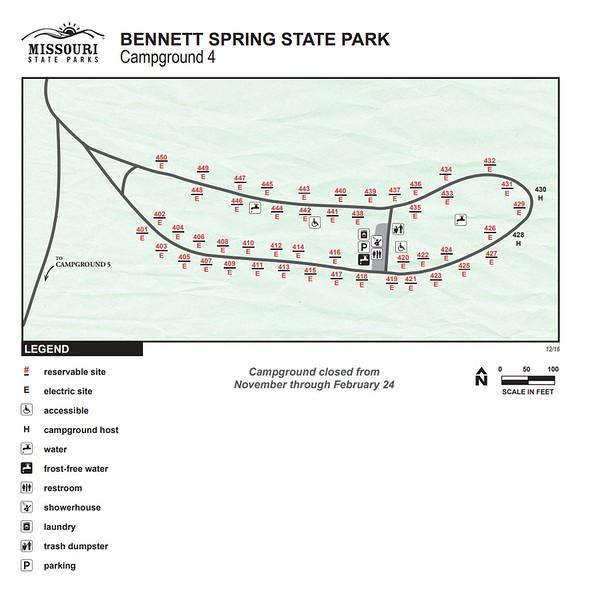 Bennett Spring State Park (Campground #4)