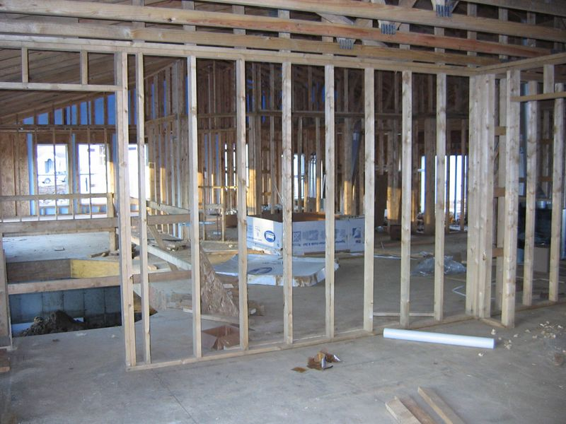 Interior Fireplace, tubs & plumbing in place November 17