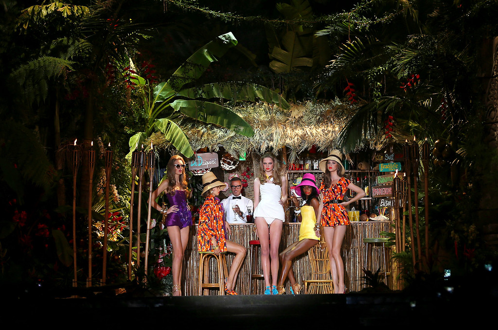 . Models wear creations for DSquared2 women\'s Spring-Summer 2014 collection, part of the Milan Fashion Week, unveiled in Milan, Italy, Wednesday, Sept. 18, 2013. (AP Photo/Antonio Calanni)