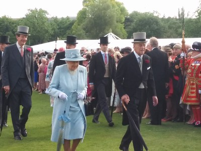 The Queen's garden party at Buckingham Palace 1.6.2017