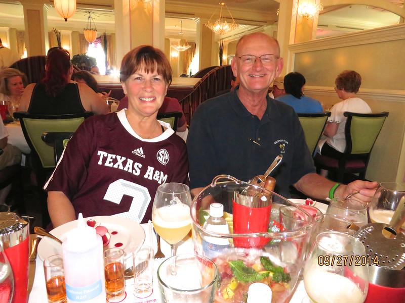 Ann & Russell Bellmor At Grand Marnier Tasting At Disney World September 2014
