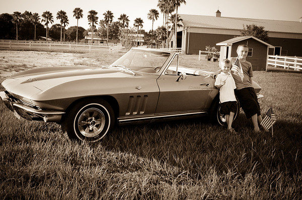 Marlowe Boys with Corvette