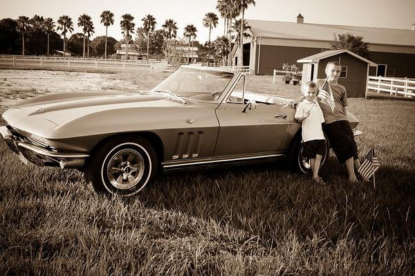 Marlowe Boys with Corvette