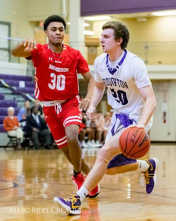 Broughton boy's varsity basketball vs Sanderson. Cap-7 Tournament. February 15, 2018.