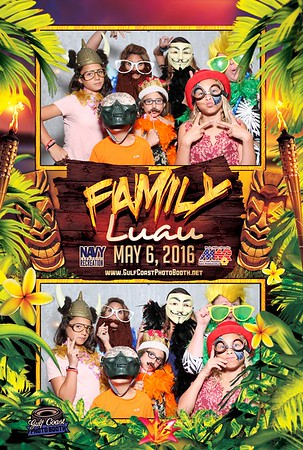Pcola MWR Family Luau Photo Booth Prints