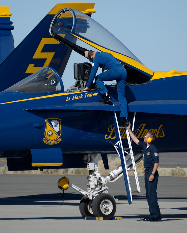 . March 19,2014. Lancaster CA.  The US Navy Blue Angels land at Fox field Wednesday morning. The Los Angels County air show with the Blue Angels will happen this Friday and Saturday at Fox Field.  Photo   by Gene Blevins/LA DailyNews