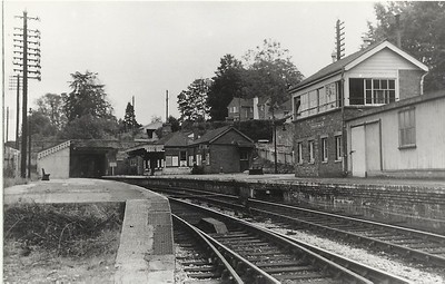 Chiseldon Station and railway line