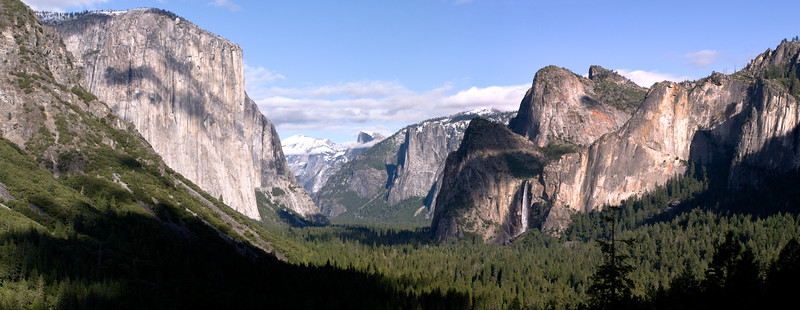 Bridal Falls and El Capitan From Artist Point Yosemite National Park