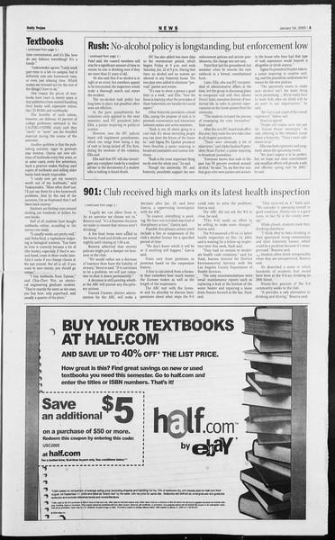 Daily Trojan, Vol. 154, No. 4, January 14, 2005