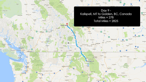 Day 9 - June 28, 2016 - Kallispell, MT to Golden, BC