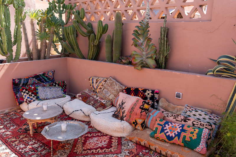 Riad BE rooftop in Marrakech, Morocco
