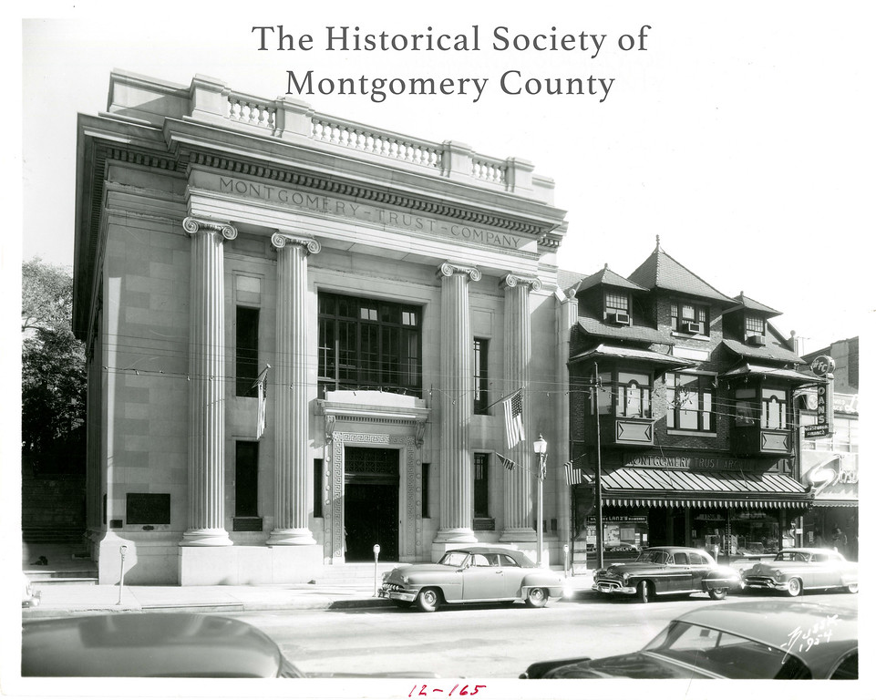 . This photo from the Historical Society of Montgomery County shows Commonwealth Savings and Loan at Main and Cherry streets in Norristown in the 1960s.