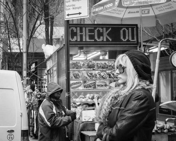 Check-out at New York