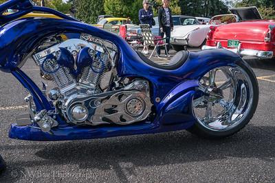 Flaming Blue Chopper