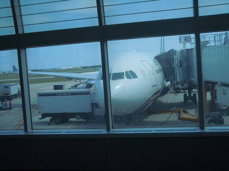 Our our plane, an Airbus A330-300 at the Paris airport.