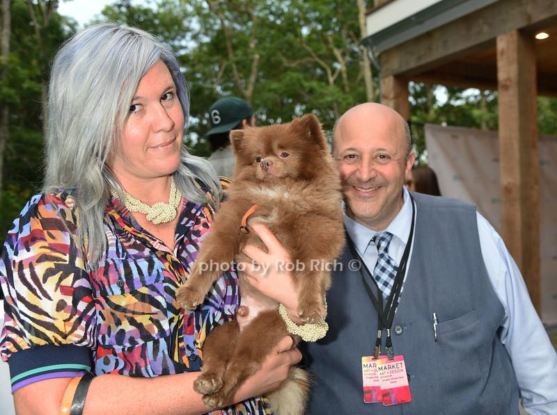 Kathy Grayson with dog Bertie and Raphael Avigdor photo by Rob Rich/SocietyAllure.com © 2016 robwayne1@aol.com 516-676-3939