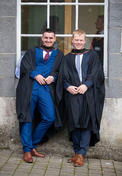 30/10/2019. Waterford Institute of Technology (WIT) Conferring Ceremonies. Pictured are Damien Keating Gusserane and Alex O'Hanlon Tramore who graduate Bachelor of Business Hons. Picture: Patrick Browne
