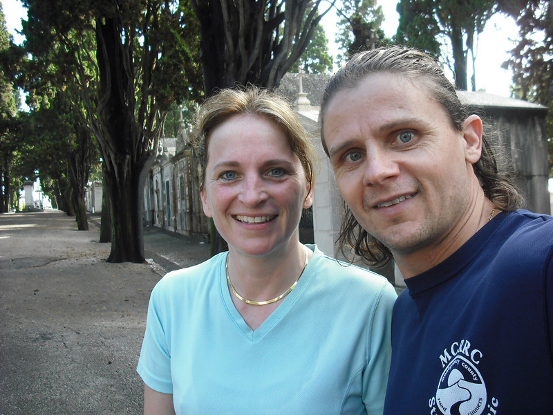 Lisbon, Portugal.  In the cemetery during our run.