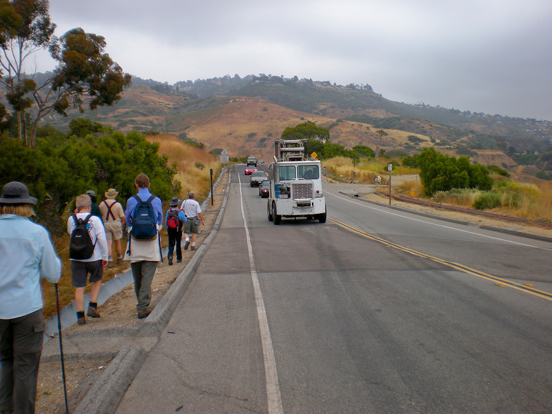 This part of the Palos Verdes Drive is always on the move. It is on the land slide.