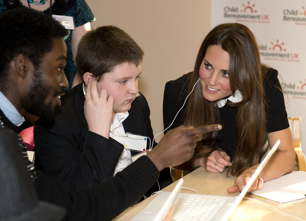 . Britain\'s Catherine, Duchess of Cambridge, visits the offices of Child Bereavement, in Saunderton, Buckinghamshire, on March 19, 2013.  PAUL EDWARDS/AFP/Getty Images