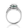 1.30ctw Old European Cut Diamond Emerald Target Ring 3