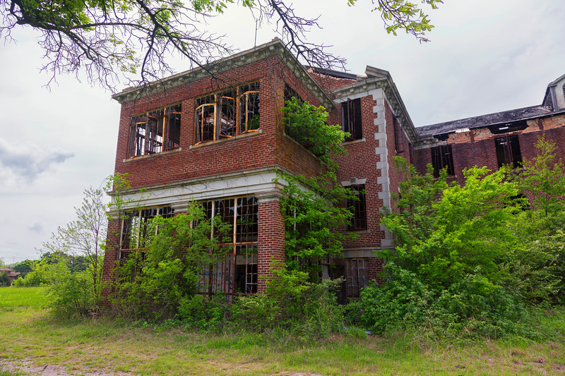 at the abandoned Woodmen Circle Children's Home, Sherman, Texas, USA